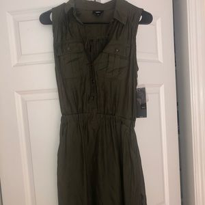 Olive colored Tank top dress